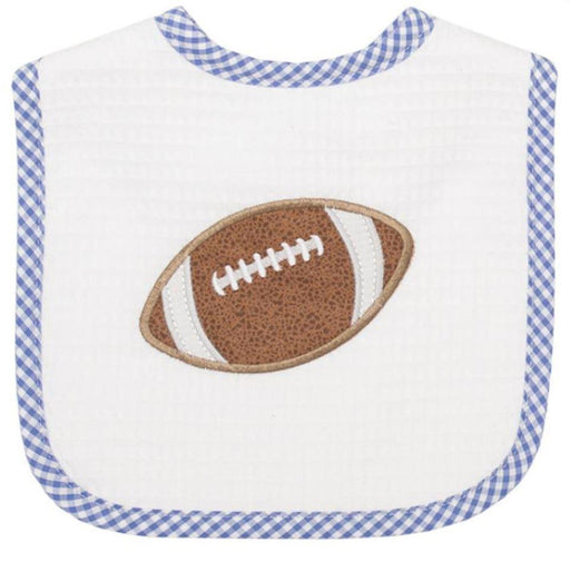Football Feeding Bib Bibs 3 Marthas Football - Navy