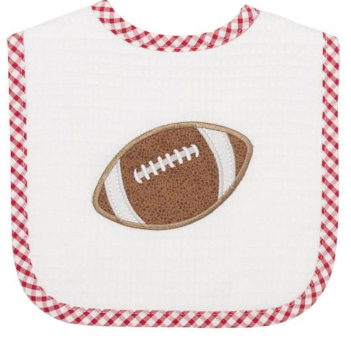 Football Feeding Bib Bibs 3 Marthas Football - Red
