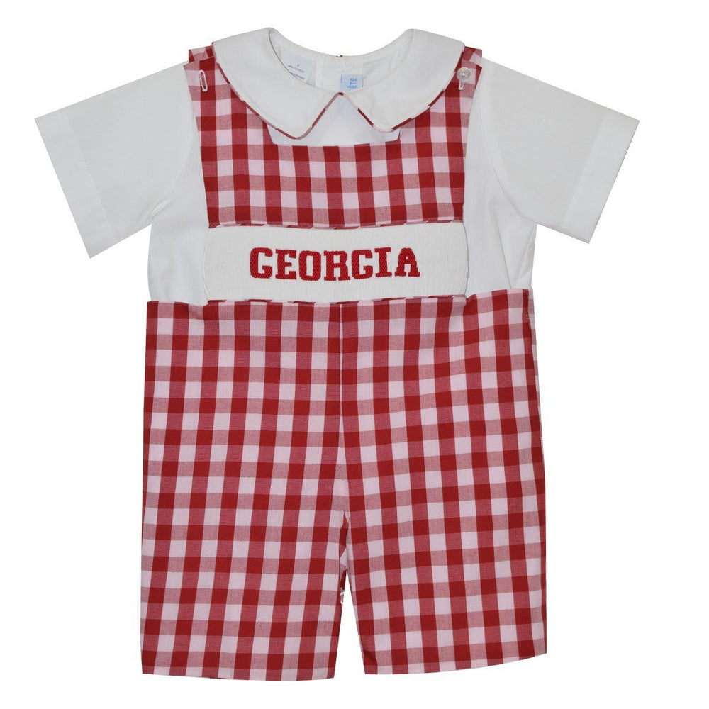 Georgia Game Day Smocked Jon Jon with Shirt Jon Jon Vive La Fete