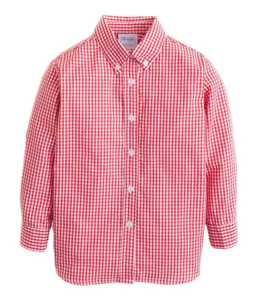 Gingham Button Down Shirt Shirt Little English