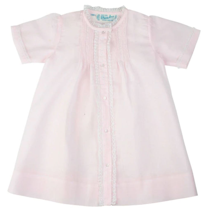 Girls Lace Folded Daygown Baby Gown Feltman Brothers Pink