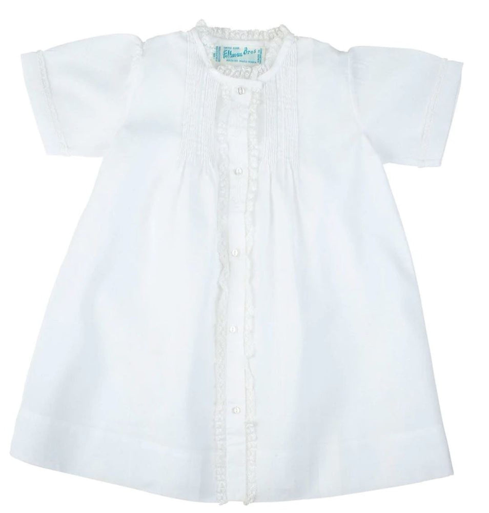 Girls Lace Folded Daygown Baby Gown Feltman Brothers White