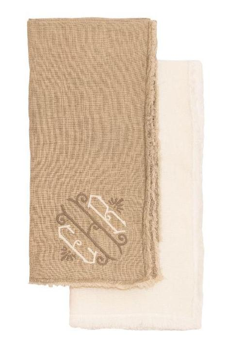 Graciella Linen Dinner Napkins - Set of 4 Dinner Napkins Saro White