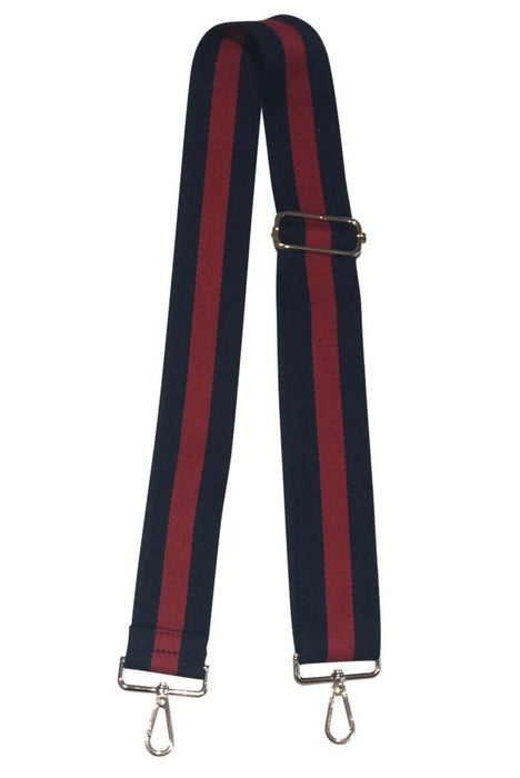 Guitar Straps Purse Strap Ahdorned Navy and Red Stripe