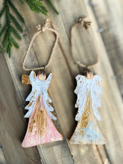 Hand Painted Angel Ornament Ornament Trade Cie