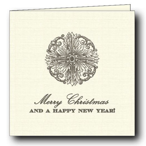 Happy Holidays Folded Gift Card - Grey Stationery Maison de Papier