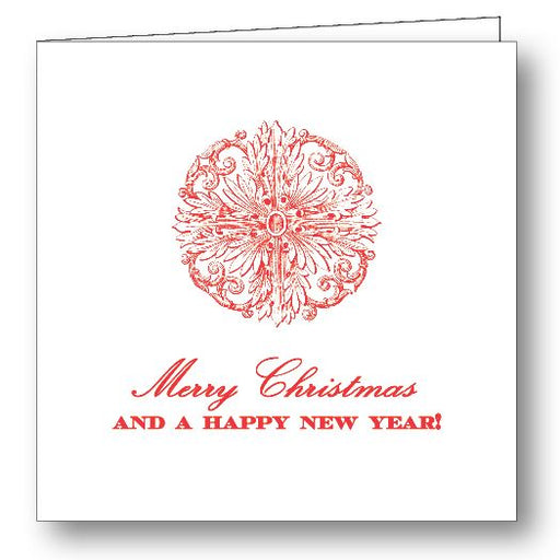 Happy Holidays Folded Gift Card - Red Stationery Maison de Papier