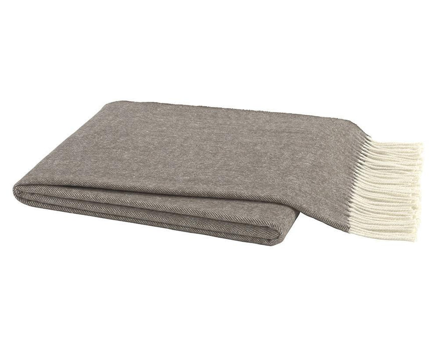 Herringbone Italian Throw Throws Lands Down Under Barnwood