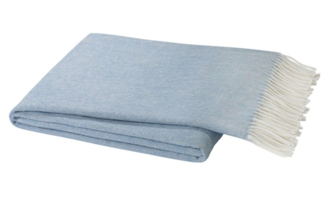 Herringbone Italian Throw Throws Lands Down Under Blue Denim