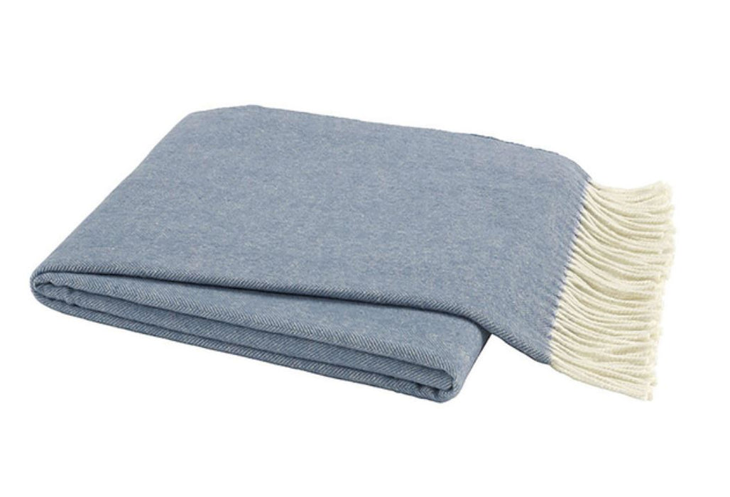 Herringbone Italian Throw Throws Lands Down Under Chambray