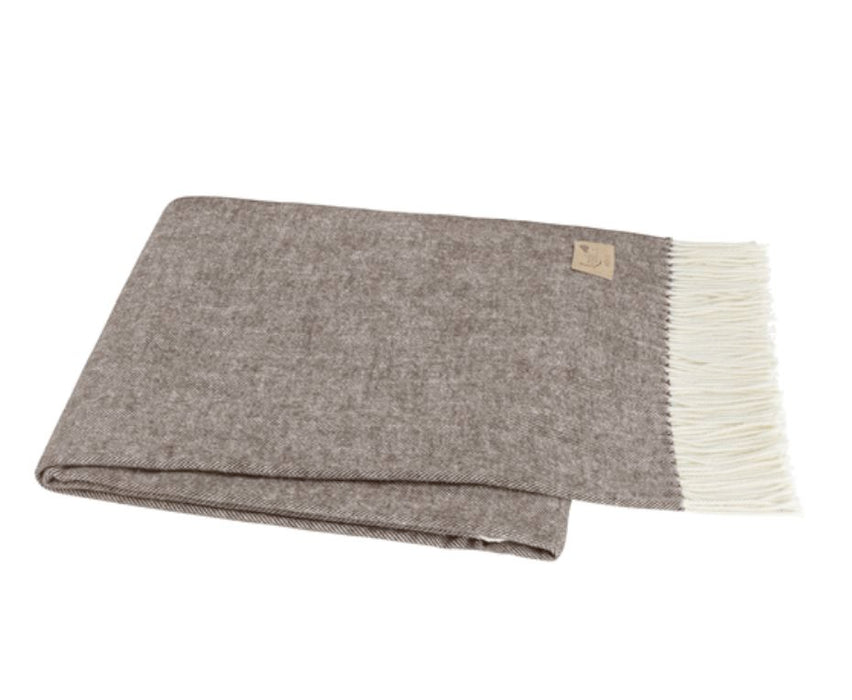 Herringbone Italian Throw Throws Lands Down Under Chestnut