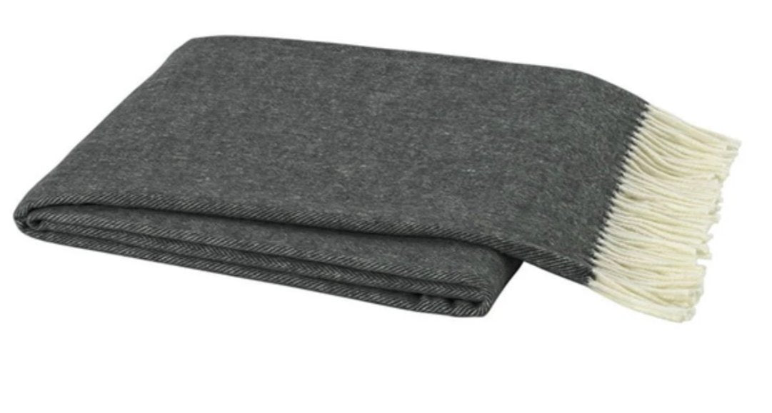 Herringbone Italian Throw Throws Lands Down Under Graphite