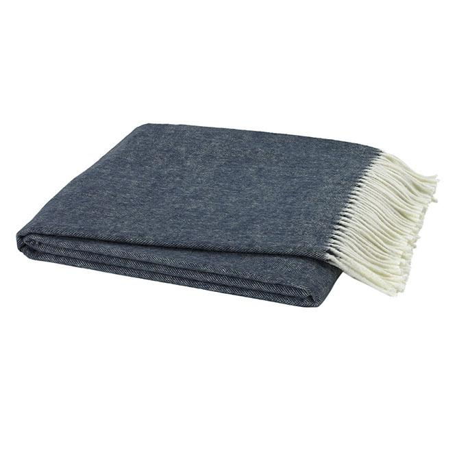 Herringbone Italian Throw Throws Lands Down Under Navy