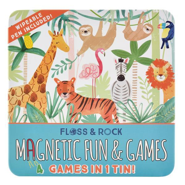 Jungle Magnetic Fun and Games Activity Toys Floss and Rock