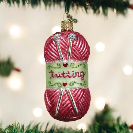 Knitting Yarn Ornament Ornament Old World Country