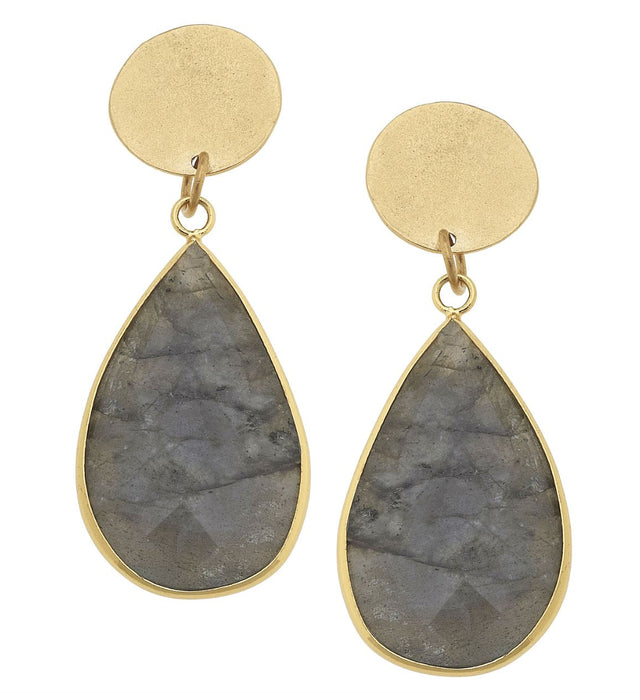 Labradorite Tear Drop Earrings Earrings Susan Shaw