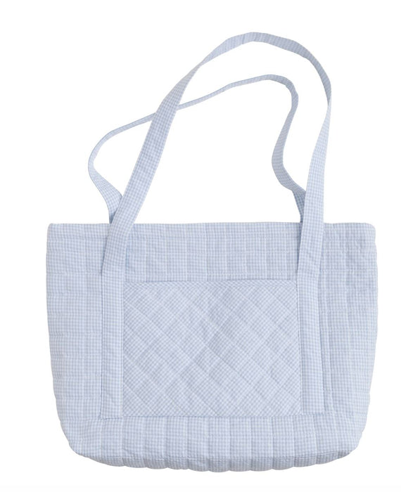 Light Blue Quilted Luggage Bags and Totes Little English Tote