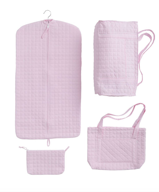 Light Pink Quilted Luggage Bags and Totes Little English