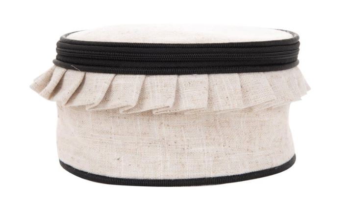 Linen Jewelry Round Jewelry Cases MSC Black