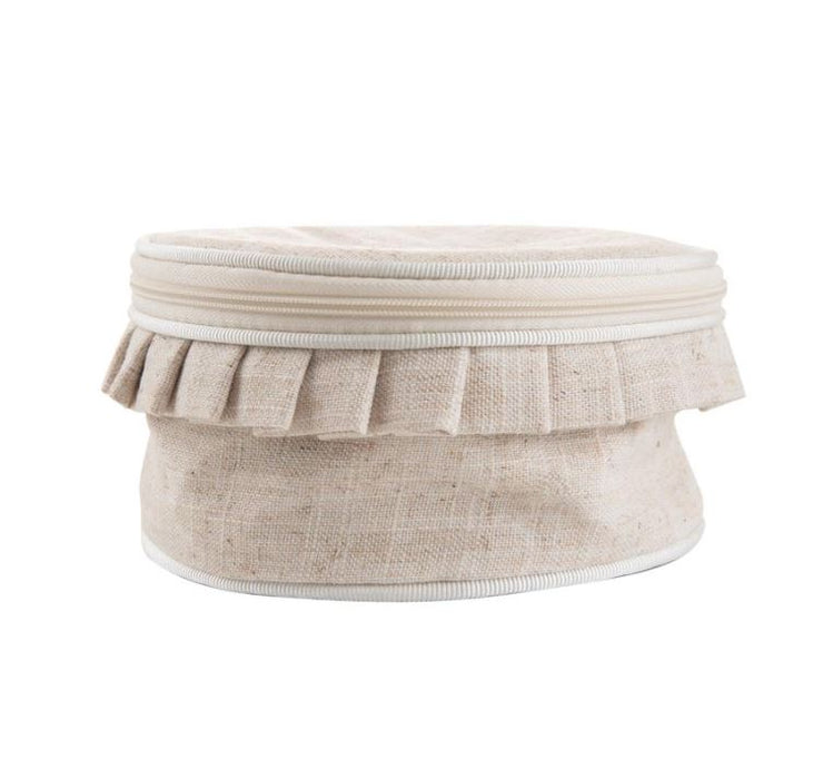 Linen Jewelry Round Jewelry Cases MSC Cream