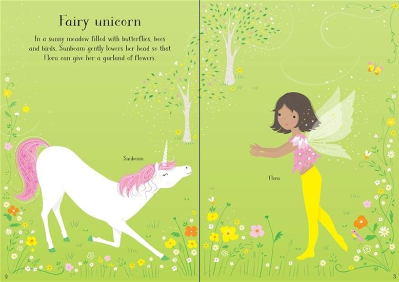 Little Sticker Dolly Dressing - Unicorns Book Usborne