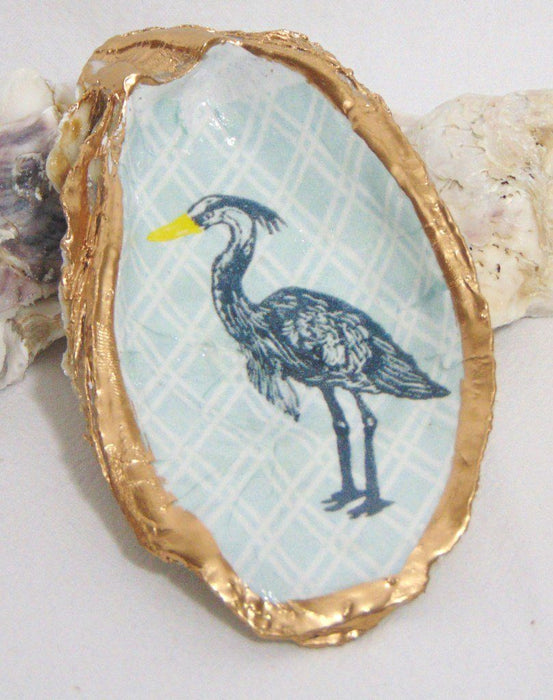 Low Country Oyster Shell Ring Dish Oyster Dish Low Country Linens Heron