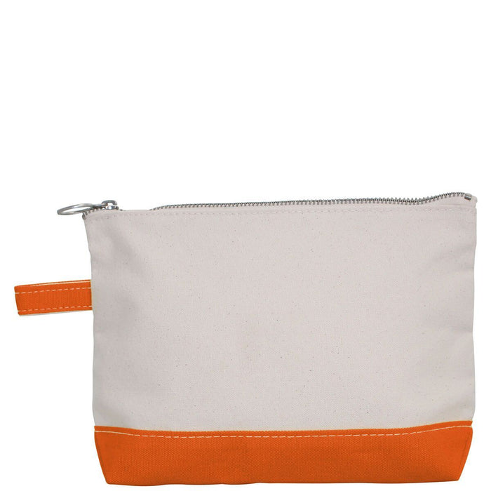 Makeup Zip Pouch Cosmetic/Accessories Bags CB Station Orange