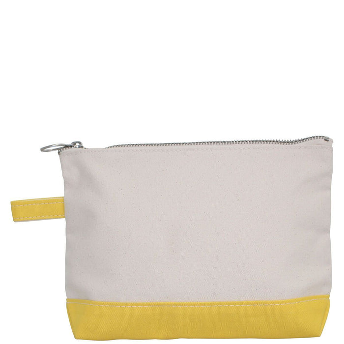 Makeup Zip Pouch Cosmetic/Accessories Bags CB Station Yellow