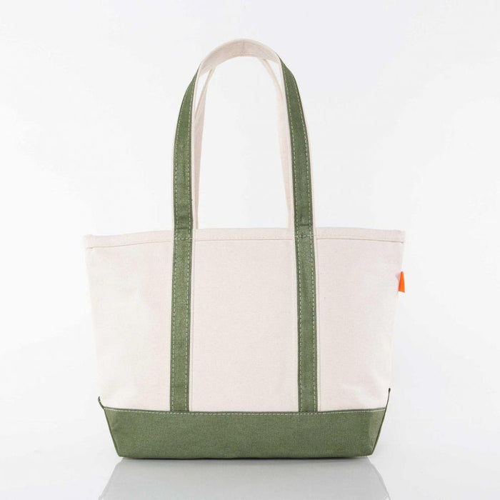 Medium Metallic Boat Tote Tote CB Station Green