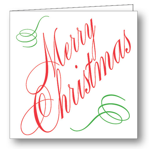 Merry Chirstmas Folded Gift Cards Stationery Maison de Papier