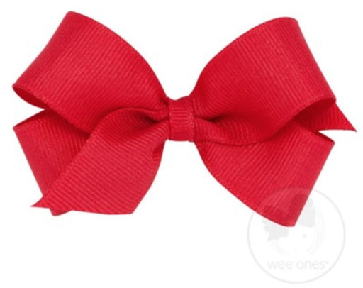 Mini Hair Bow Hair Bows WeeOnes Red