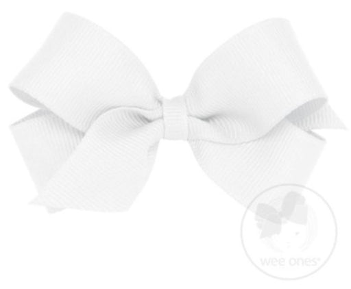 Mini Hair Bow Hair Bows WeeOnes White