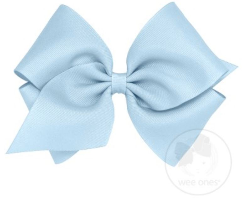 Mini King Hair Bow Hair Bows WeeOnes Millenium Blue
