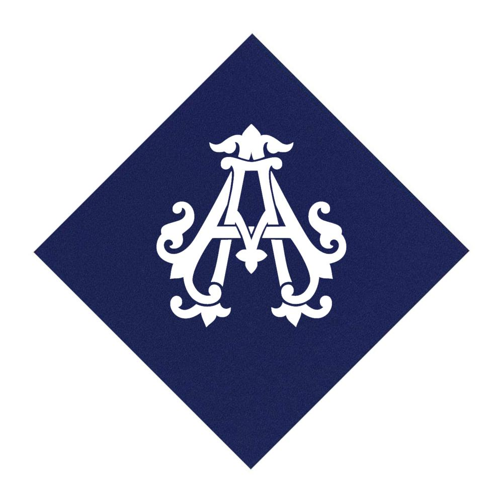 Navy Cocktail Napkins- Single Initial Paper Napkins Print Appeal A