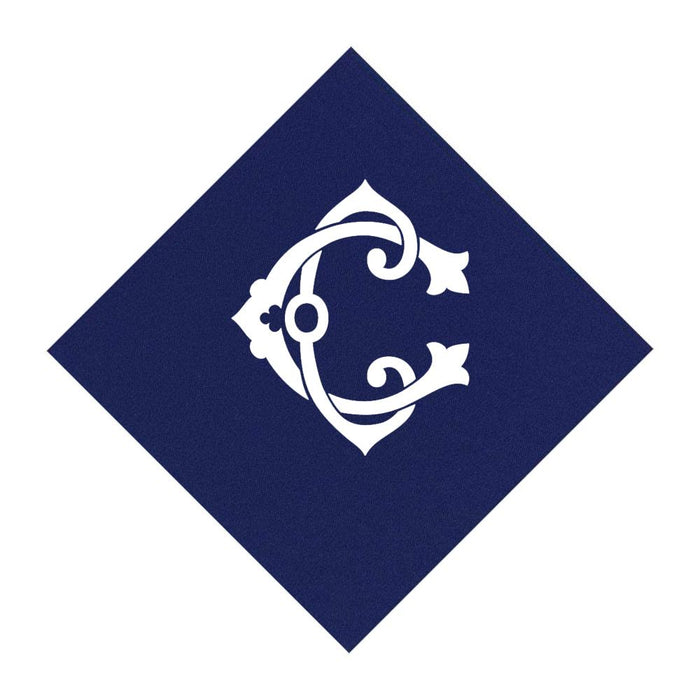 Navy Cocktail Napkins- Single Initial Paper Napkins Print Appeal C