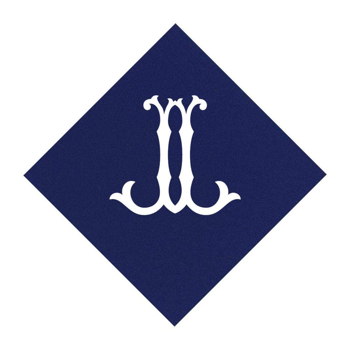 Navy Cocktail Napkins- Single Initial Paper Napkins Print Appeal J