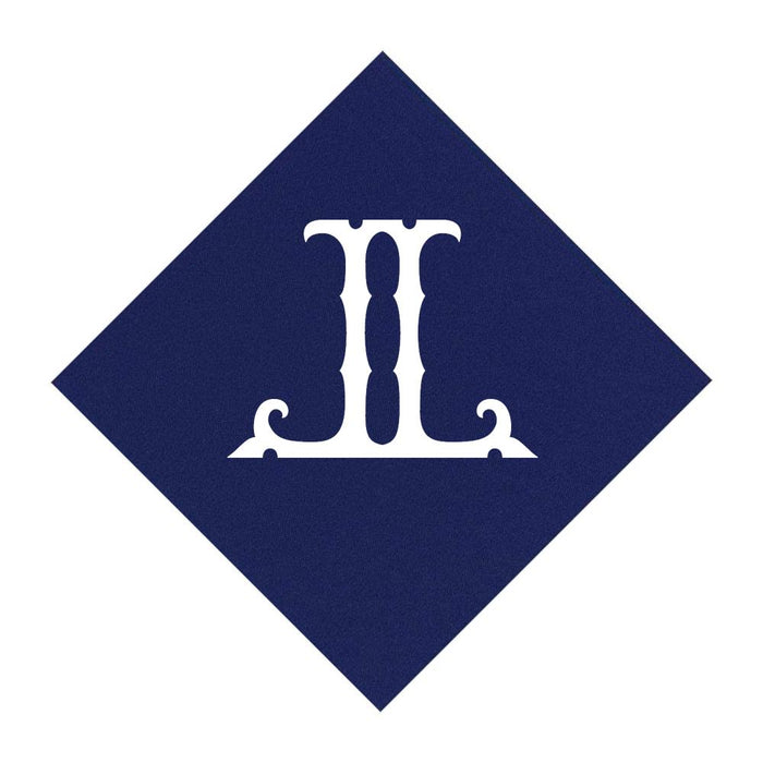 Navy Cocktail Napkins- Single Initial Paper Napkins Print Appeal L