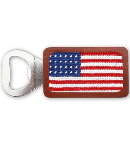 Needle Point Bottle Opener Bottle Openers Smathers and Branson American Flag