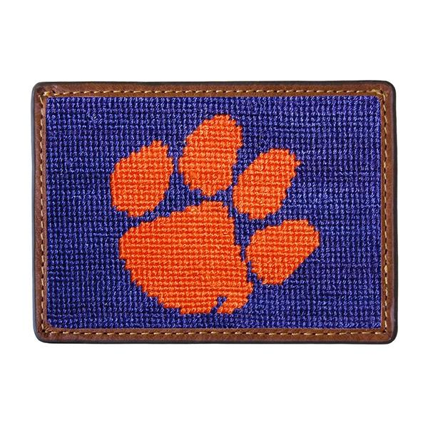 Needle Point Credit Card Wallet Wallets Smathers and Branson Clemson