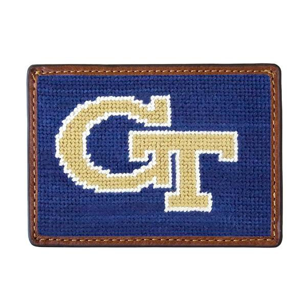 Needle Point Credit Card Wallet Wallets Smathers and Branson Georgia Tech