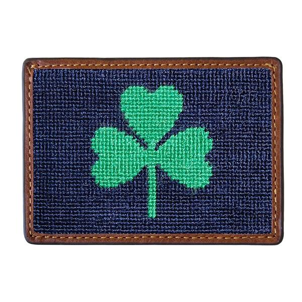 Needle Point Credit Card Wallet Wallets Smathers and Branson Shamrock