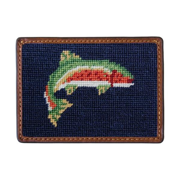 Needle Point Credit Card Wallet Wallets Smathers and Branson Trout