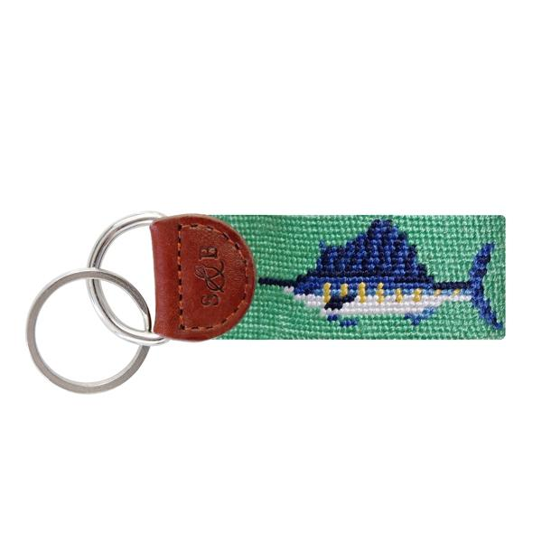Needle Point Key Fob Key Fobs Smathers and Branson Billfish
