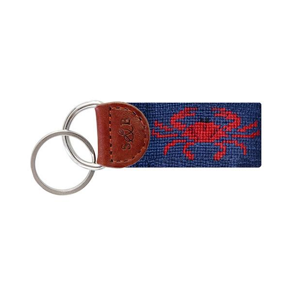 Needle Point Key Fob Key Fobs Smathers and Branson Crab