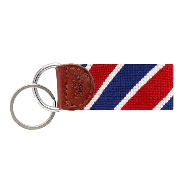 Needle Point Key Fob Key Fobs Smathers and Branson Patriotic Stripes