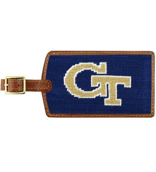 Needle Point Luggage Tag Luggage Tags Smathers and Branson Georgia Tech
