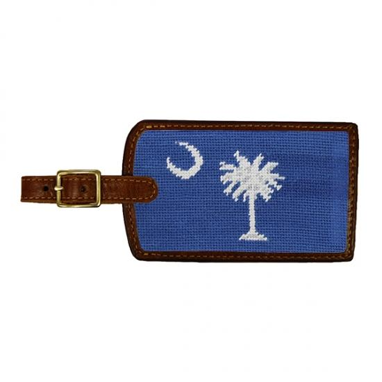 Needlepoint Luggage Tag Luggage Tags Smathers and Branson South Carolina Flag