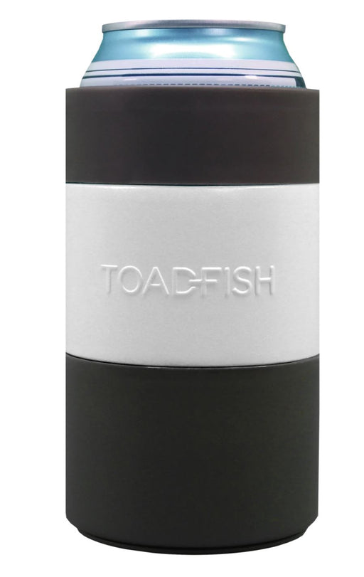 Non-Tipping Can Cooler - White Drinkware Toadfish