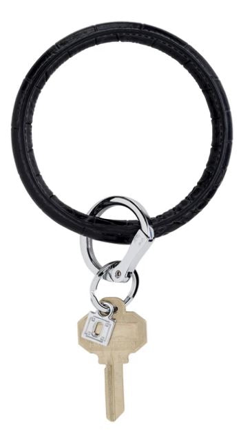O-Ring - Leather Keychains Oventure Back in Black Croc