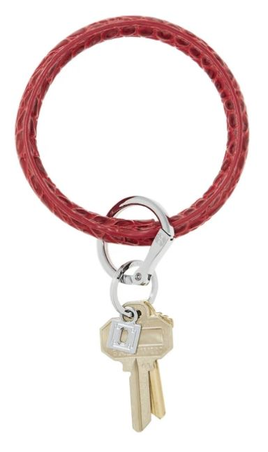 O-Ring - Leather Keychains Oventure Cherry on Top Croc